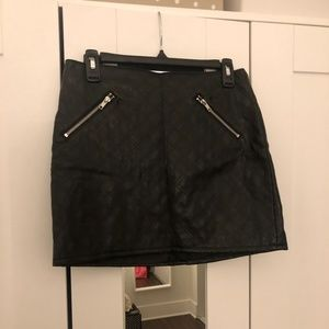H&M Mini Leather Skirt with Zippers